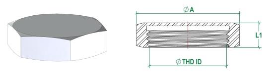 RJT BS4825-5 Blank Liner Cap