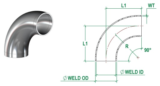 DIN11865-A Bend Short