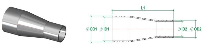 ASME BPE Concentric Reducer DT11 4.1.3-1