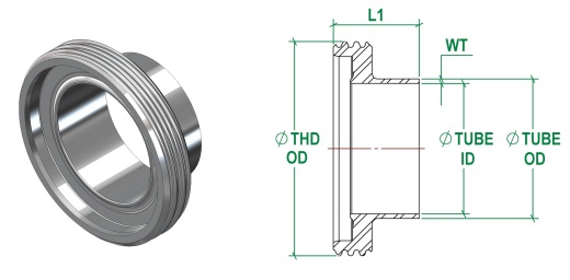DIN11853-1 Male DIN11864-1 Male