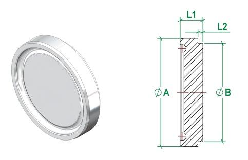 DIN11853-1 Blank Liner DIN11864-1 Blank Cap