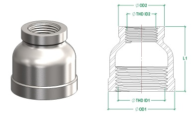 Round Reducing Socket